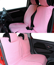 【NEW】 全席分シートカバー シートカバー 軽自動車 ガーデン 2カラー かわいい 装着15分!90%の車に適合♪ピンク