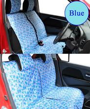 【NEW】 全席分シートカバー シートカバー 軽自動車 花柄 3カラー かわいい装着15分!90%の車に適合♪ 青