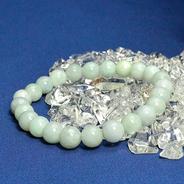パワーストーン ブレス 幸運 対人運 家庭運 の代表的な石 翡翠(ひすい)8ミリ玉