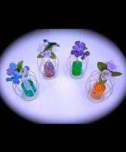 【女子力UP】【大人可愛い】花かご入りアロマ・インテリア 【ラベンダー、ベルガモット、ローズウッド、ひば】