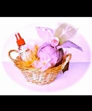 華きんちゃくギフトセット 【華きんちゃく・アロマスレッシュ・花陽炎3個/カゴ入り】