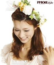 花冠 アーティフィシャルフラワー(内輪幅17cm、全体幅約30cm)