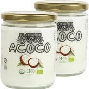 【送料無料・セットで400円もお得♪】有機 JAS オーガニック 遠心分離製法 フィリピン産 ACOCO アココ ココナッツオイル2本セット