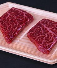 小形牧場牛 赤身ステーキ 50g*2シート