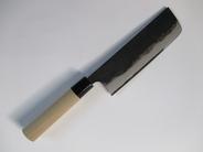 本格黒打ち包丁 角菜切り包丁 刃渡り165mm