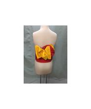 帯 赤 黄色(絹)