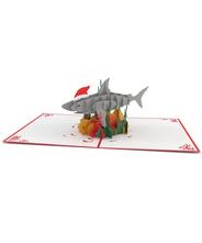 3Dポップアップカード ILOVE POP <<Christmas Shark>>