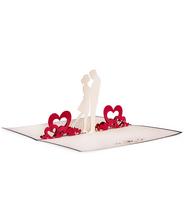 3DポップアップカードI LOVE POP<<Couple in LOVE>>