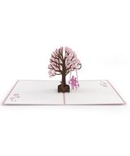 3DポップアップカードI LOVE POP<<Lovers in Dogwood Tree Pink>>