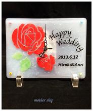 【送料無料】ベネチアンガラスミルフィオリギフト時計 L 【結婚祝い】