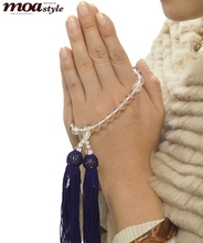 手作り数珠本水晶(ヒマラヤ水晶)文字入れ対象可能商品