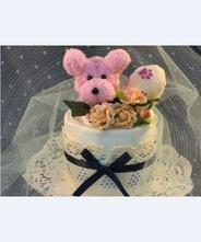 【犬 おむつケーキ】ペットシーツケーキ マリーコットン(ピンク)★送料無料★