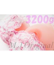 ★大きいサイズ★ シリコンバスト 3.2kg ( ブラひも 付 )★I~J カップ 人工乳房 女装 豊胸 SB32st|M.J.Original