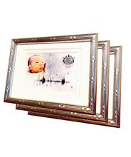 【送料無料】「音」を飾るフォトフレーム3台セット 2台目、3台目はおじい様、おばあ様に 出産お祝い プレゼント 卓上
