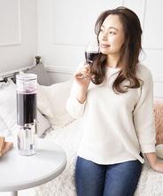 神楽ディスペンサー ワインの色を楽しめるスタンダードモデル(落し蓋・クリーム)