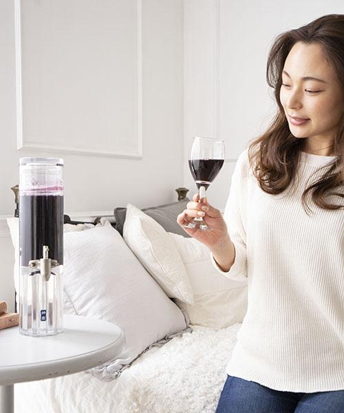 神楽ディスペンサー ワインの色を楽しめるスタンダードモデル(落し蓋・透明)