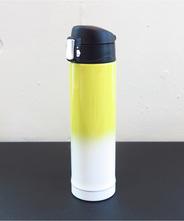 山中塗り ステンレスボトル (2トーン 黄×白)260ml