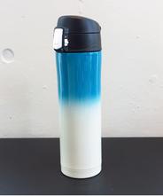 山中塗り ステンレスボトル (2トーン 水色×白)450ml