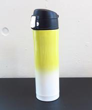 山中塗り ステンレスボトル (2トーン 黄×白)450ml