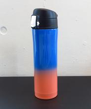 山中塗り ステンレスボトル (2トーン 青×オレンジ)450ml
