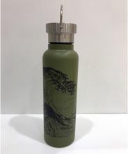山中塗り ステンレスボトル 蒔絵(カーキ)500ml