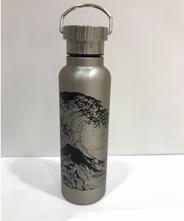 山中塗り ステンレスボトル 蒔絵(シルバー)500ml