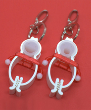 TLTLハンカチクリップ 2個セット(白手袋 赤)