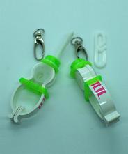 TLTLハンカチクリップ 2個セット(帽子 緑)