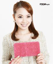 YUZEN LEATHER. Paisley / Zip Long Wallet 【Pink】