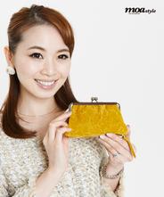YUZEN LEATHER. Paisley / Kuthigane Wallet 【Yellow】