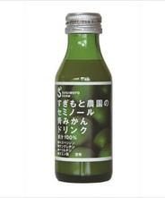 青みかんのチカラで体の中から改善 セミノール青みかんドリンク 温州みかん粉末入(果汁100% 100ml)1本