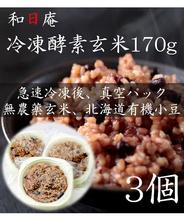 【無農薬】冷凍 酵素玄米 トレーごはん170g×3個