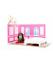 犬 手作り ケージ インテリア 家具 撮影用小物 ピンク