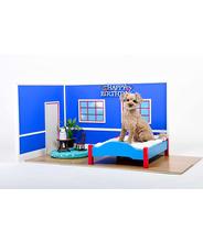 犬 手作り ケージ インテリア 家具 撮影用小物 ブルー