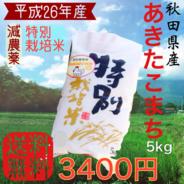 秋田県産あきたこまち5kg